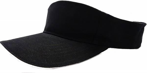 Tennis Cap Sport Mütze  schwarz oben offen Klettverschluss