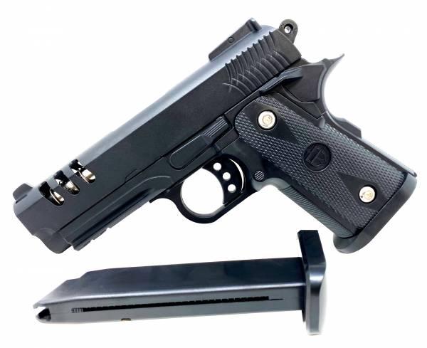 Softair Gun Airsoft Vollmetall R15 Federdruck Kids Toy Pistole 19cm 0,5 Joule
