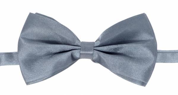 Herren Damen Fliege Anzug Krawatte grau