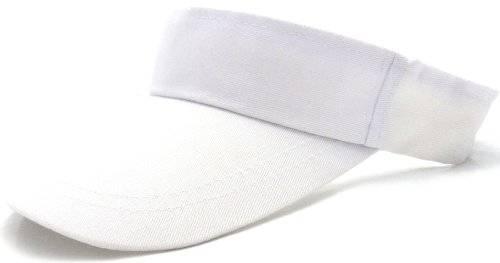 Muetze 4059 Sport Cap Tennis Halb Cappy mit Klettverschluss VIELE FARBEN - (WEISS)
