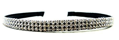 Designer Haar-Bänder Haar-Klammer Haar-Reifen aus Metall Strass/Perlen besetzt (STRASS 3.1)