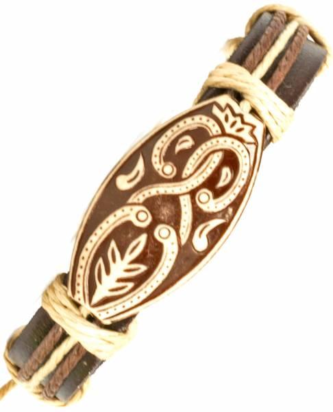 Herren Leder Armreifen Schmuck Armband Vintage Einstellbar Surf Armkettchen Motiv Äthiopien