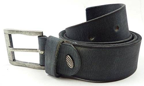 Guertel 1842 echt Leder-Guertel Leather Jeans Belt Business Leder Gürtel GRAU (120)