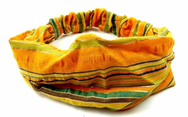 Haar Band 4522 viele Stoff-Haarbaender Haarband Haar Reifen Haarschmuck der 60er Jahre mit Streifen (gelb)