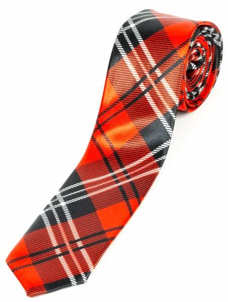 Motto-Krawatte Designer Schlips Schwarz Karo Schwarz Rot Weiss