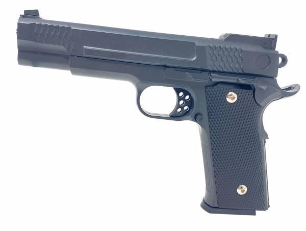 Softair Gun Airsoft Vollmetall P20 Federdruck Kids Toy Pistole 23cm 0,5 Joule