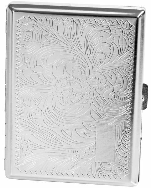 Premium Zigaretten-Etui Zigarettenbox Zigarettenschachtel in Satiniert Silber-Farben für 20 Zigaretten #1