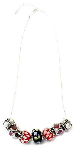 edle Damenhalsketten Beads Ketten Charms mit Anhänger viele Modelle (14)