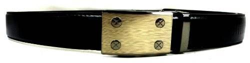 Guertel 3752 Designer Business Automatik Gürtel schwarz hochwertige Verarbeitung 115cm OP4
