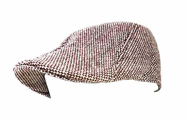 Mütze-Herren Damen-Hut braun weiss Designer Flat Cap Trendit Cold Edition VIELE MODELLE (weiss braun)