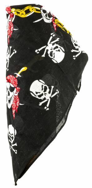 Herren Damen Kinder Kopf-Tuch schwarz Pirats Chain