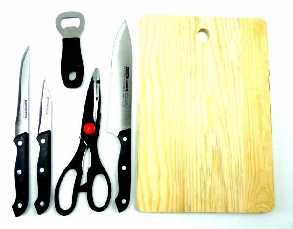 Kuechen-Werkzeug-Set 4412 Messer Schere Kitchen Knife Set 6 teilig