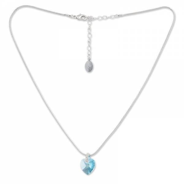 Tillberg Halsketten mit Swarovski-Steinen besetzt Damen-Collier Anhänger-Herz des Ozeans edle Damen Halsketten Titanik Schmuck mit Swarovski-Kistallen