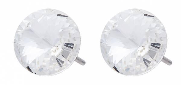 Ohrringe Damen Ohrstecker Silber mit Swarovski Steinen Glamour Earrings der Oberklasse! 4788