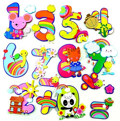 Kinder Zimmer 3D Wandtattoos Zimmer Dekoration Wandsticker Wand Tattoo viele Motive (Pet Numbers)