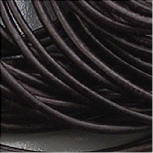 Lederriemen, mm Durchmesser 2Stk 1m schwarz mit Verschluss