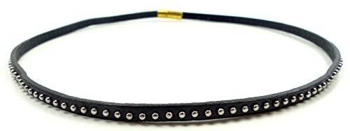 Halsband 2683 Armband Gothic Punk Nieten Halsband Nieten Armband mit kleinen Nieten schwarz U3-X1