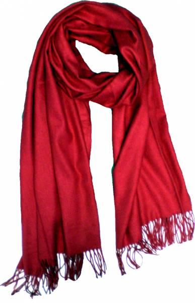 XXL Schal Herren Damen riesen Poncho / Schal einfarbig rot Herbst Winter Luxus Scarfs Deluxe Schals super weich soft (red) 4764