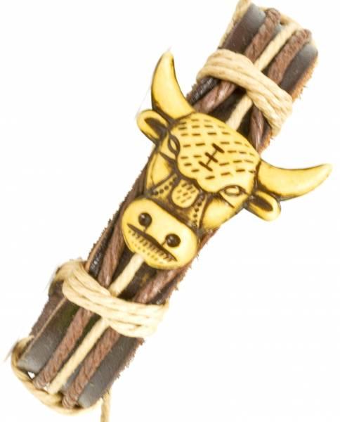 Armband Armreifen Vintage Surf Armkettchen Motiv Stier Bullenkopf