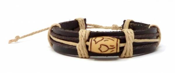 Armband Echt-Leder Natur-Produkte Handmade - Rose