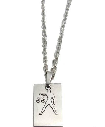 Halskette 50cm mit tollem Sternzeichen Anhänger - Waage