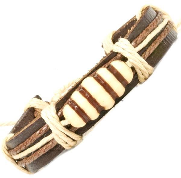 Herren Leder Armreifen Schmuck Armband Vintage Einstellbar Surf Armkettchen Motiv Glücksbringer Kopf
