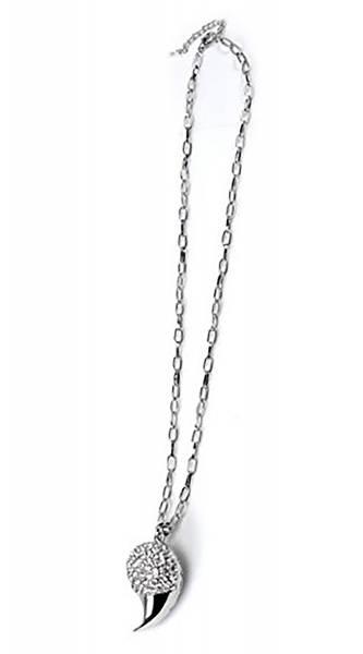 Halskette Silber Damen-Halsketten Silber mit Krallen-Anhänger Strass Besatz SILVER CLAW