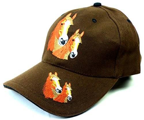 Kinder Caps viele Farben 2119 Pferde Cappy Retro Mütze 100% Baumwolle U19-2 (braun)