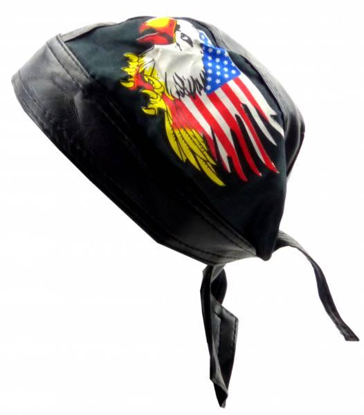 Kopftuch Herren Damen Kopf-Tuecher schwarz Biker Gothic Adler-Motiv Head-Scarf black Theme Eagle USA 5179