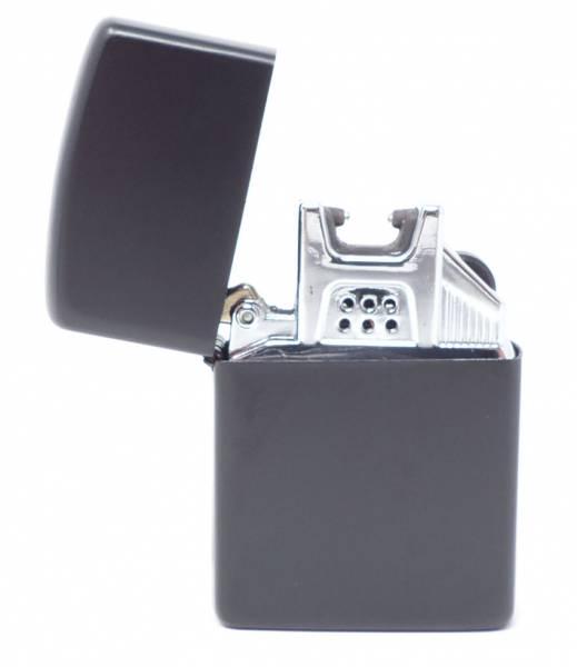 Electro USB Sturm Feuerzeug Metall Gehäuse matt schwarz