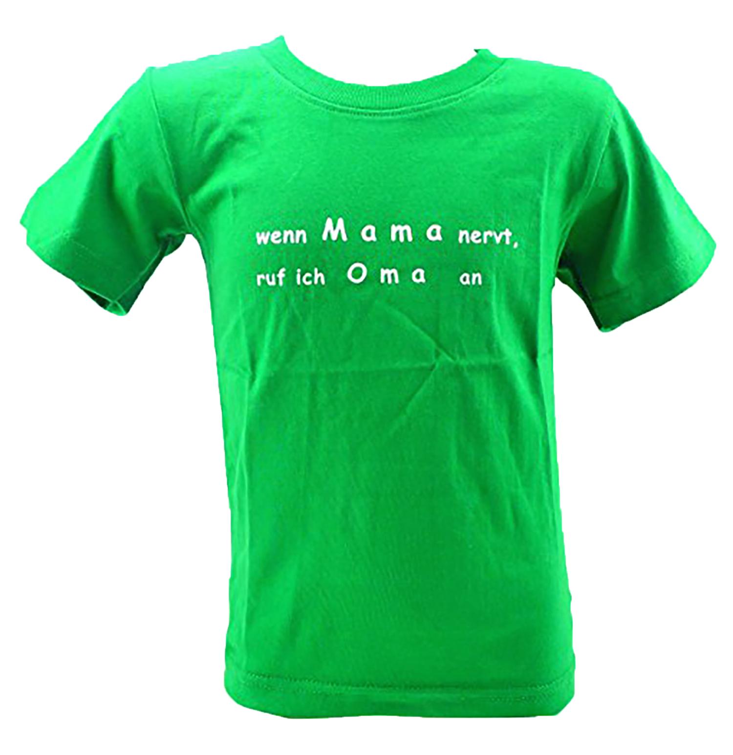 Kinder-Hemd grün lustige Sprüche T-Shirts 5-6 Jahre wenn ...