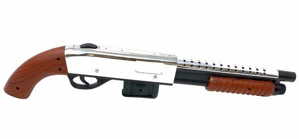 Softair Gewehr Airsoft Rifle Pump Gun 45cm cm 0,49 Joule silver