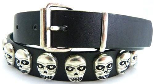 Guertel 3236 schwerer Totenkopf Gürtel Skull Belts dieverse Modelle und Längen (Totenkopf 1, 105 Zentimeter)