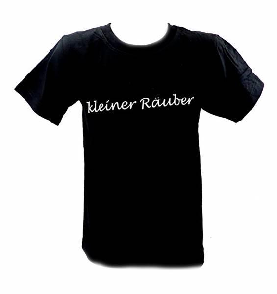 tolle Kinder T-Shirts 1 - 6 Jahre viele Farben KLEINER RÄUBER (3-4 J, schwarz)