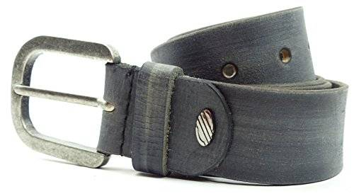 Guertel 1719 echt Leder-Guertel Leather Jeans Belt Business Leder Gürtel STONE GREY (115)