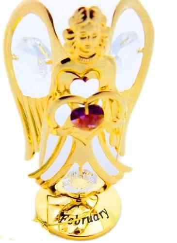 Figur 4130 edle Engelsfigur 24 Karat Vergoldung Sculpture mit Swarovski Steinen SEPTEMBER