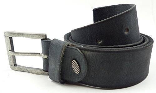 Guertel 3009 echt Leder-Guertel Leather Jeans Belt Business Leder Gürtel GRAU (125)