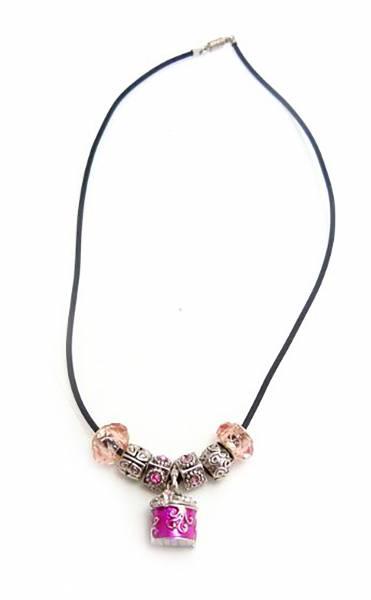 edle Beadskette mit Anhänger zur Aufbewahrung PINK-1