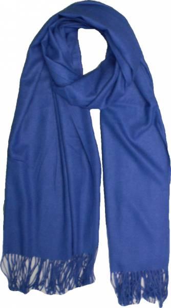 XXL Schal Herren Damen riesen Poncho / Schal einfarbig royal blau Herbst Winter Luxus Scarfs Deluxe Schals super weich soft (blue) 4761