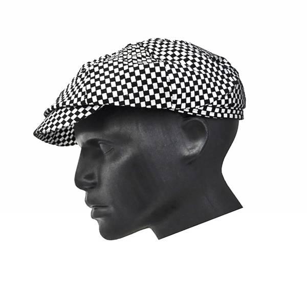 Designer Golf Cap mit elegantem Karomuster SCHWARZ