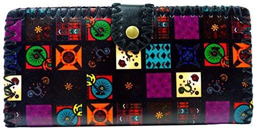 Designer Leder Geldbörsen gefertigt in aufwendiger Handarbeit (schwarz)