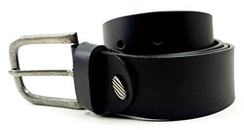 Guertel 1461 echt Leder-Guertel Leather Jeans Belt Business Leder Gürtel BLACK (105)
