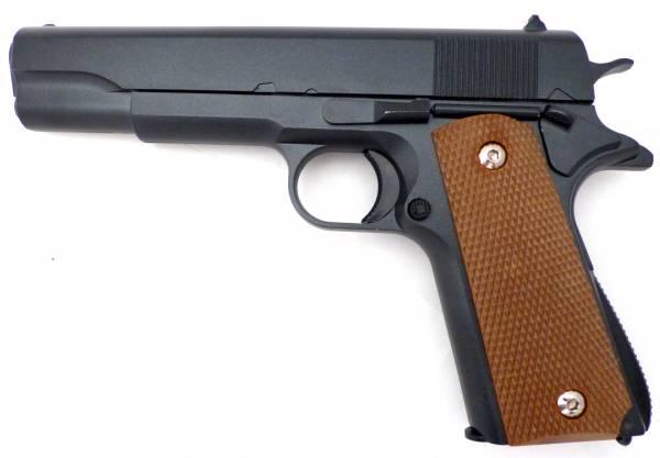 Softair-Pistole Metall Spielzeug-Waffe Sniper-Gun 13th schwarz-braun Federdruck-Sports Weapon im Set mit Kugeln