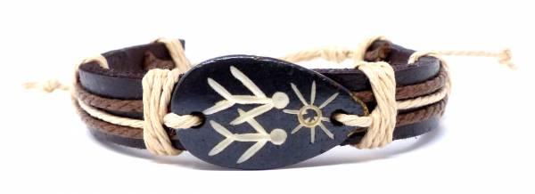 Armband Herren Damen Leder-Armbänder Handmade - twosun