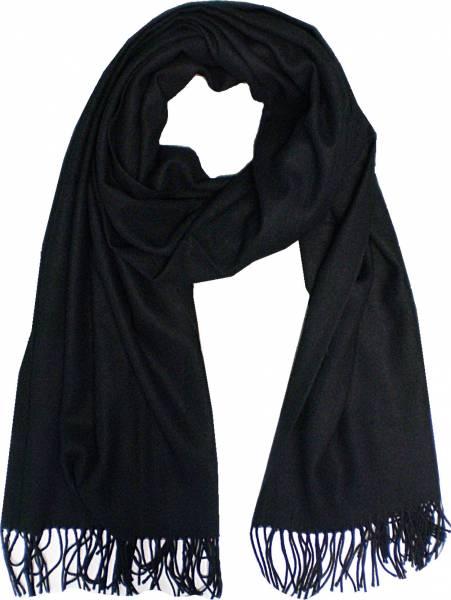 XXL Schal Herren Damen riesen Poncho / Schal einfarbig schwarz Herbst Winter Luxus Scarfs Deluxe Schals super weich soft (black) 4765