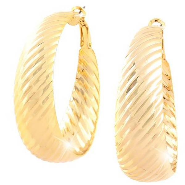 Creolen Damen Ohrringe XL gold 2Stk