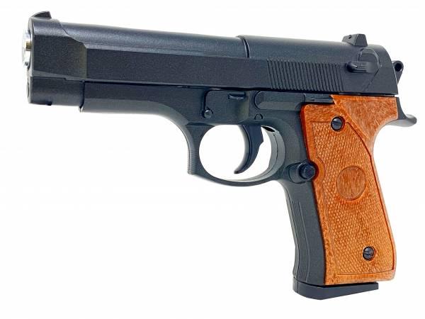 Softair Gun Airsoft Vollmetall P22 Federdruck Kids Toy Pistole 14cm 0,5 Joule