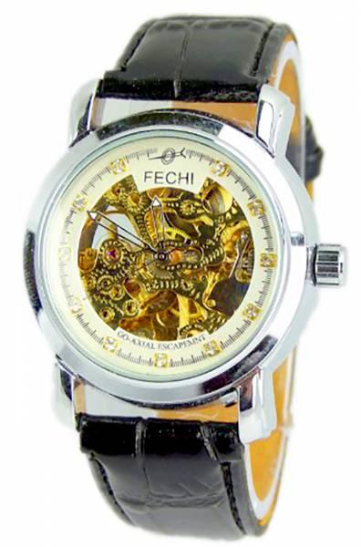 Automatik-Uhren Herren Damen Uhren tolle Designer Herren Automatikuhr offene Unruh in GOLD