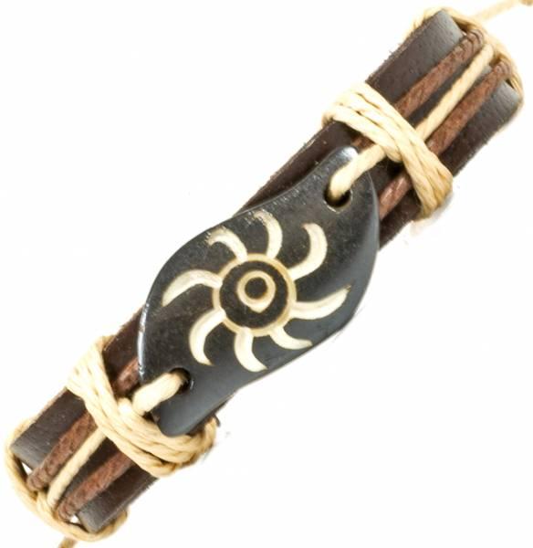 Herren Leder Armreifen Schmuck Armband Vintage Einstellbar Surf Armkettchen Motiv Sommer Feuer