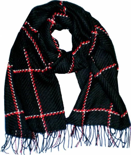 Schal Herren Damen Schal schwarz modernes Strickmuster Winter Scarfs moderne Schals super Soft weich (schwarz) 4780